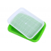 Лоток с крышкой для микрозелни 30х20 см