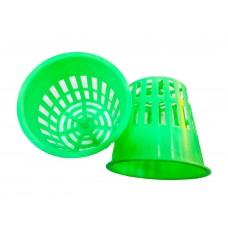 Пластиковый зеленый сетчатый горшок 108х98 мм